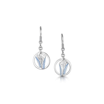 Stone Circles kék tűzzománc ezüst fülbevaló