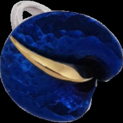 Kék titánium gyűrű – AR