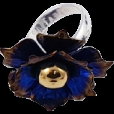 Kék titánium gyűrű – NR