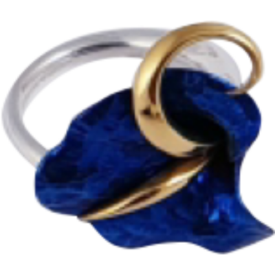 Kék titánium gyűrű – HRS