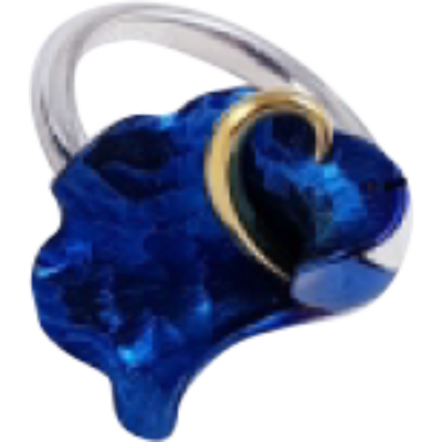 Kék titánium gyűrű – IRS