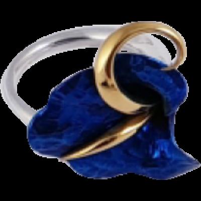 Kék titánium gyűrű – HRM