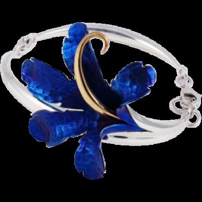 Kék titánium karkötő – LB