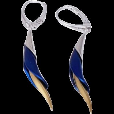Kék titánium fülbevaló – MEMH