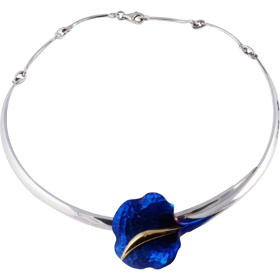 Kék titánium collier (nagy) – BN