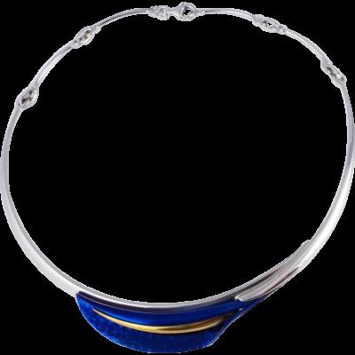 Kék titánium collier (nagy)– EN