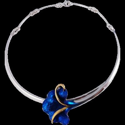 Kék titánium collier (nagy) – HN