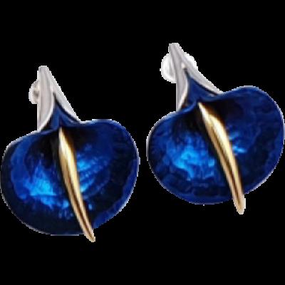 Kék titánium fülbevaló (kicsi) -AEM