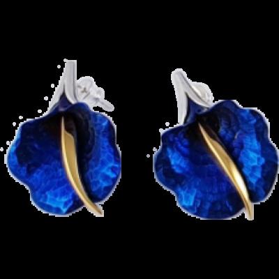 Kék titánium fülbevaló (nagy) -BE