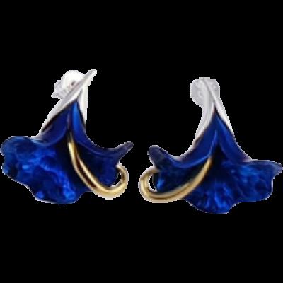 Kék titánium fülbevaló (kicsi) - IEM