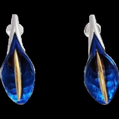 Kék titánium fülbevaló - KEM