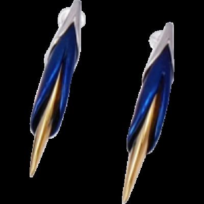 Kék titánium fülbevaló - MEM