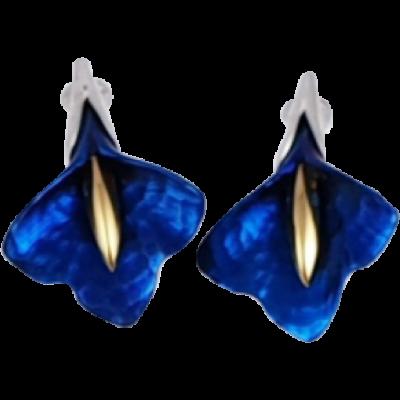 Kék titánium fülbevaló - OEM