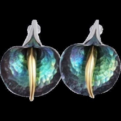 Zöld titánium fülbevaló – GAE