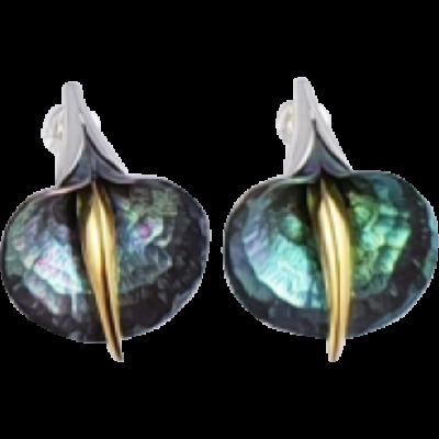 Zöld titánium fülbevaló – GAEM