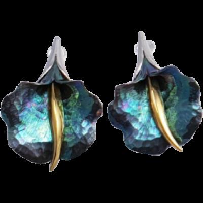 Zöld titánium fülbevaló – GBE
