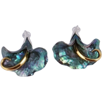 Zöld titánium fülbevaló – GI-E
