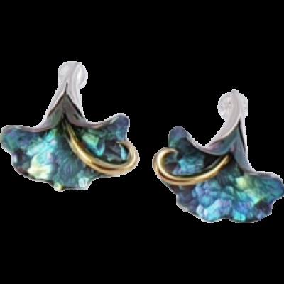Zöld titánium fülbevaló – GI-EM