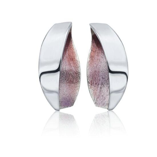 Anciteri ezüst lila tűzzománc fülbevaló