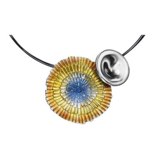 Basia Solaris napsugár tűzzománc ezüst medál