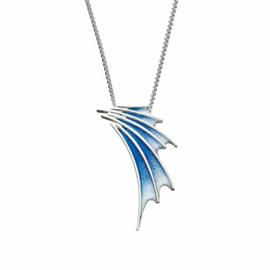 Cascade kék tűzzománc ezüst medál