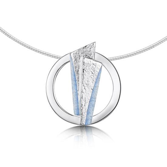 Stone Cicles kék tűzzománc ezüst nyakék