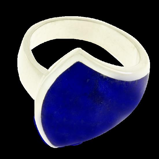 Ezüst gyűrű lápisz lazúrkővel