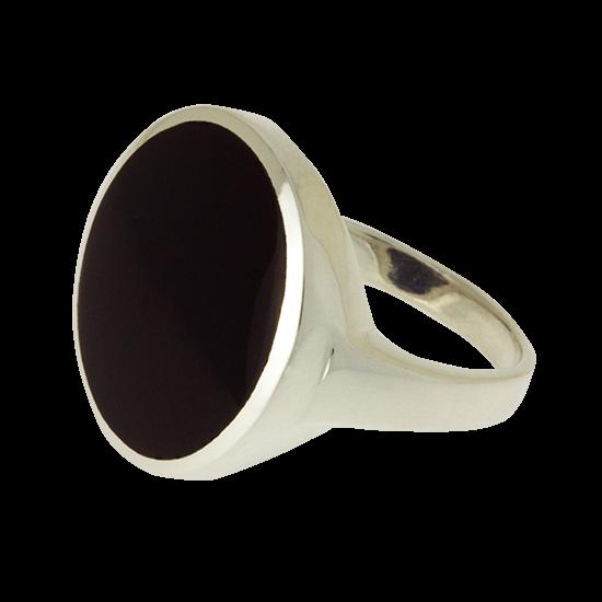 Ezüst gyűrű ónix féldrágakővel