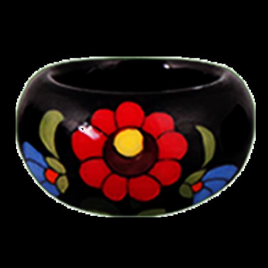 Fekete kalocsai porcelán gyűrű
