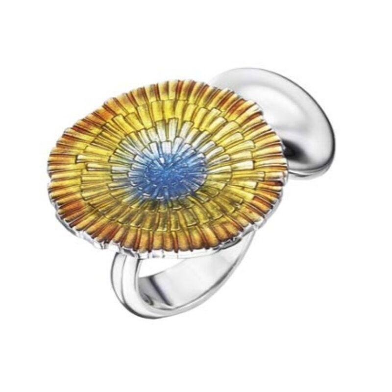 Basia Solaris napsugár tűzzománc ezüst gyűrű
