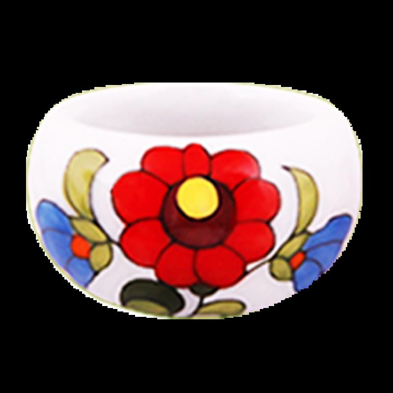 Fehér kalocsai porcelán gyűrű