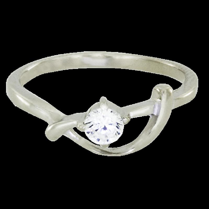 Ródiumozott Ezüst Gyűrű Cirkóniával
