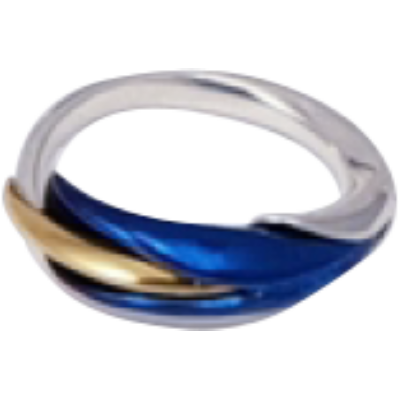 Kék titánium gyűrű – MR