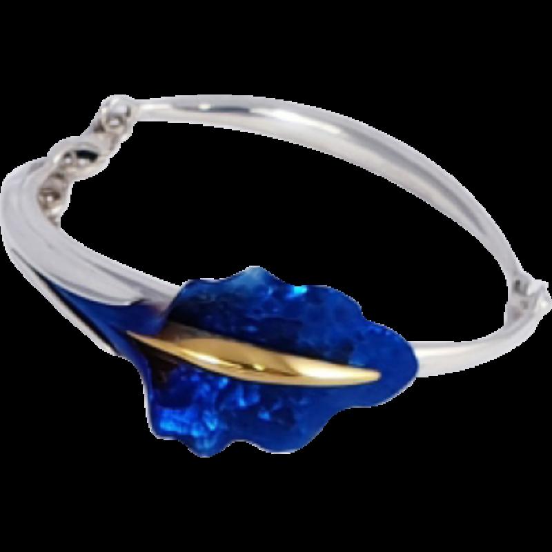 Kék titánium karkötő – DB