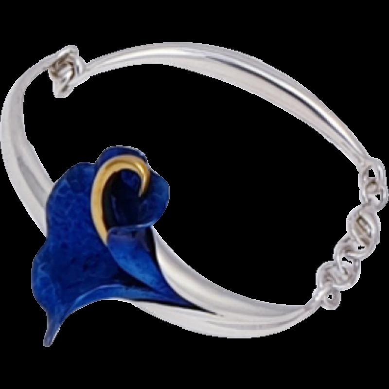 Kék titánium karkötő – IB