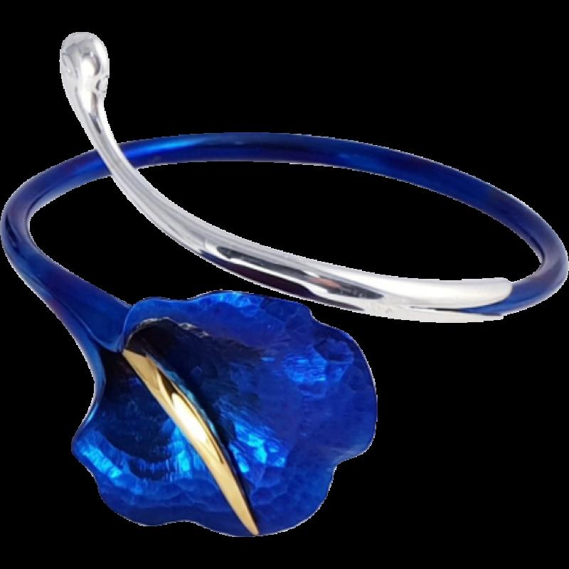 Kék titánium karkötő – SB