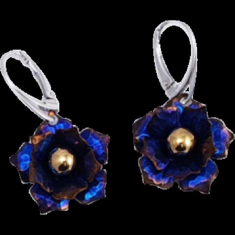 Kék titánium fülbevaló – NEMH