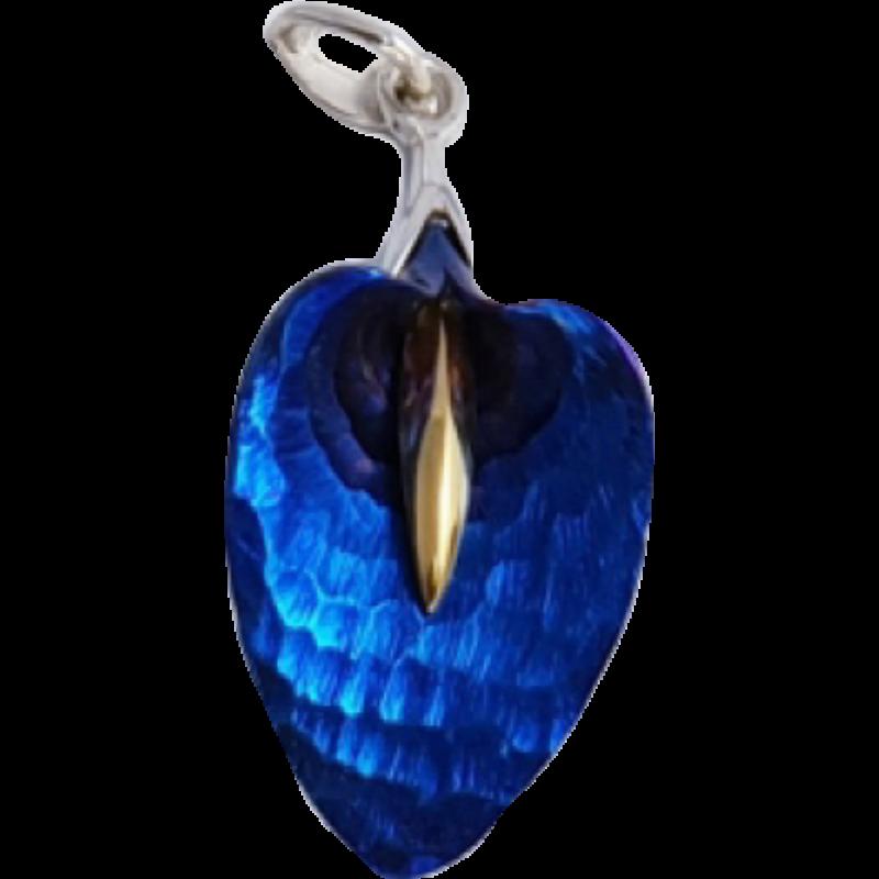 Kék titánium közepes medál – CPM