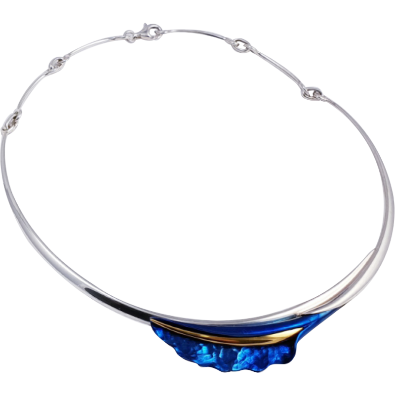 Kék titánium collier – FNM