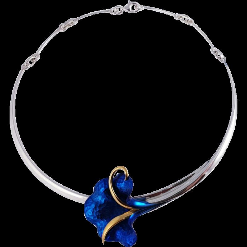 Kék titánium collier – HNM