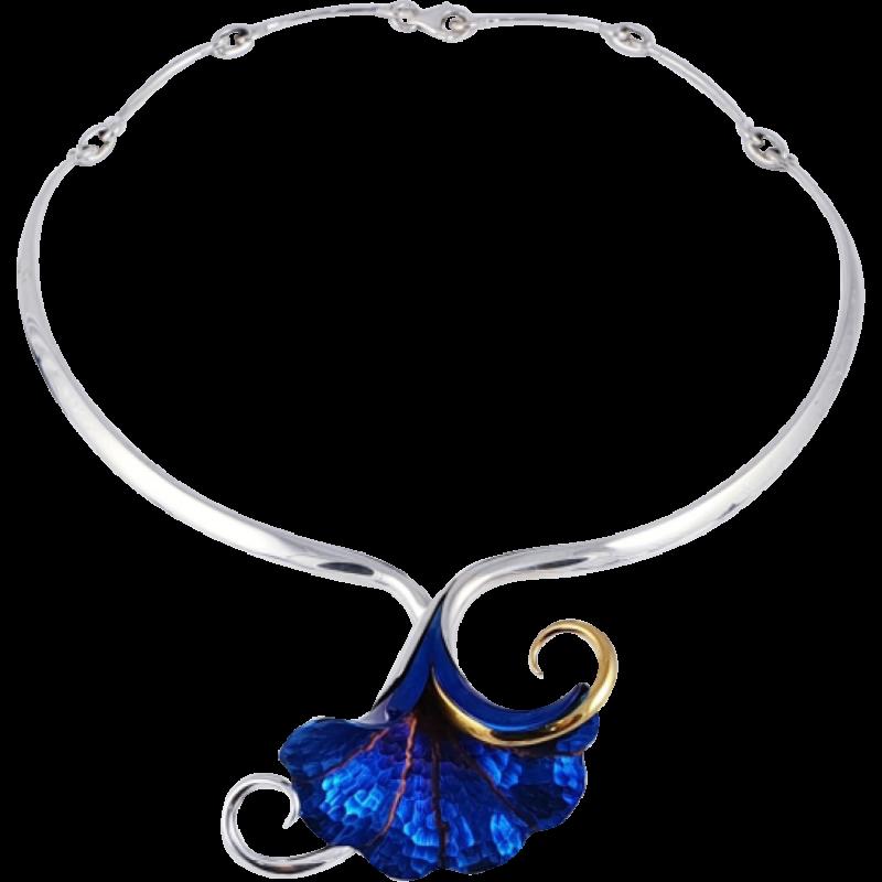 Kék titánium collier (nagy) – INO