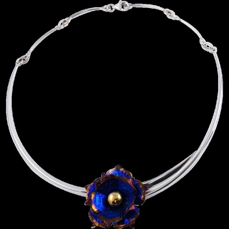 Kék titánium collier (nagy) – NN