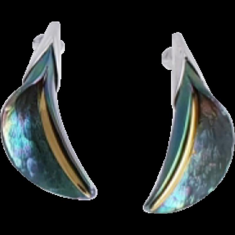 Zöld titánium fülbevaló – GEEM